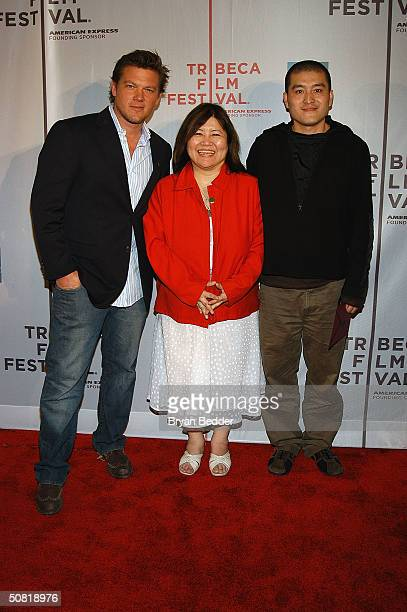 Celebrity chef Tyler Florence and director Liu Fen Dou arrives at the Third Annual Tribeca Film Festival Awards Ceremony May 9 2004 in New York City