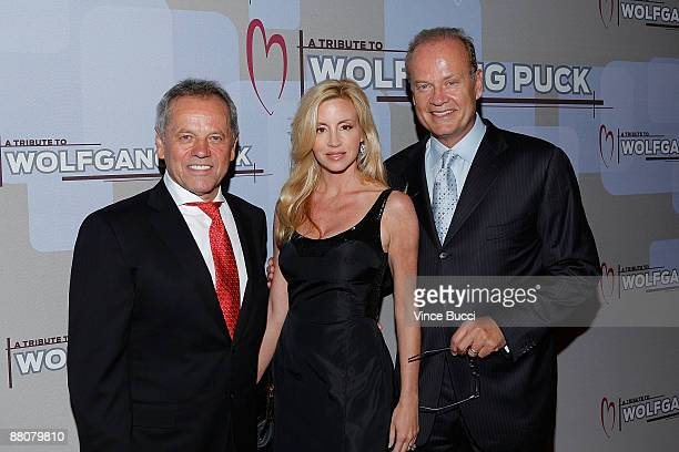 Celebrity chef Wolfgang Puck and actor Kelsey Grammer and wife Camille attend the CedarsSinai Medical Center Heart Foundation's event honoring Puck...