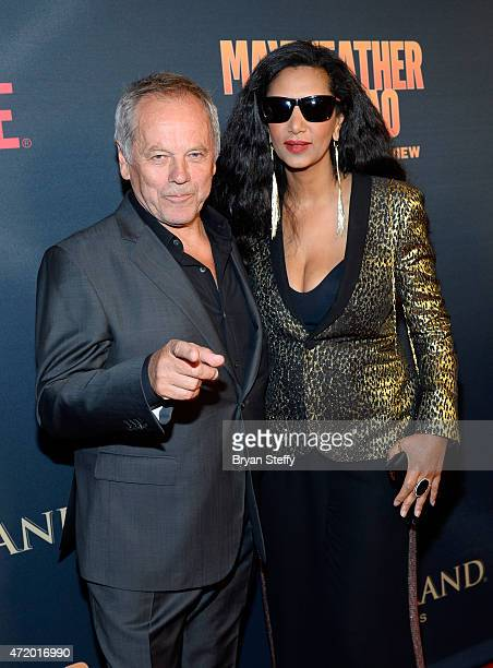 Celebrity chef Wolfgang Puck and Gelila Assefa attend the SHOWTIME And HBO VIP PreFight Party for Mayweather VS Pacquiao at MGM Grand Hotel Casino on...