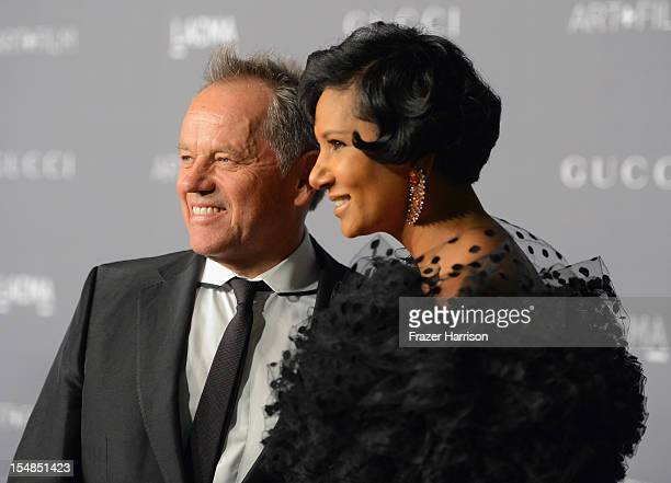 Celebrity chef Wolfgang Puck and wife Gelila Pulk Puck arrive at LACMA 2012 Art Film Gala Honoring Ed Ruscha and Stanley Kubrick presented by Gucci...
