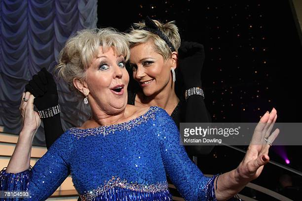 Celebrity contestents Patti Newton and Jessica Rowe pose together following the grand final of season seven of Channel Seven's 'Dancing With The...