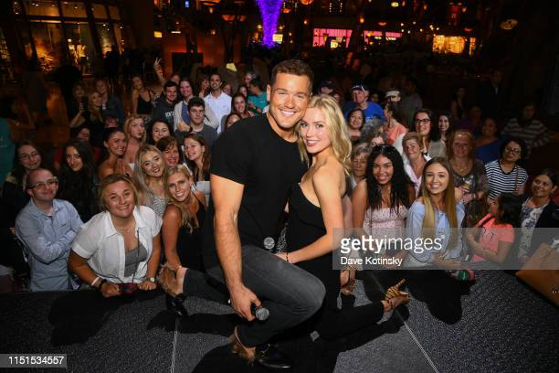 Celebrity couple Colton Underwood and Cassie Randolph meet with fans at Mohegan Sun during a Special Edition Reality Check event before attending the...