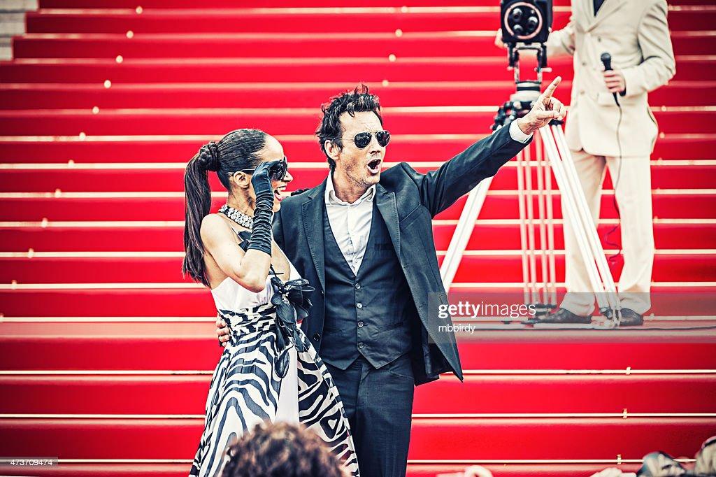 Celebrity Paar auf roten Teppich in Cannes : Stock-Foto