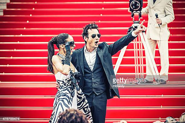 Celebrity couple on red carpet in Cannes