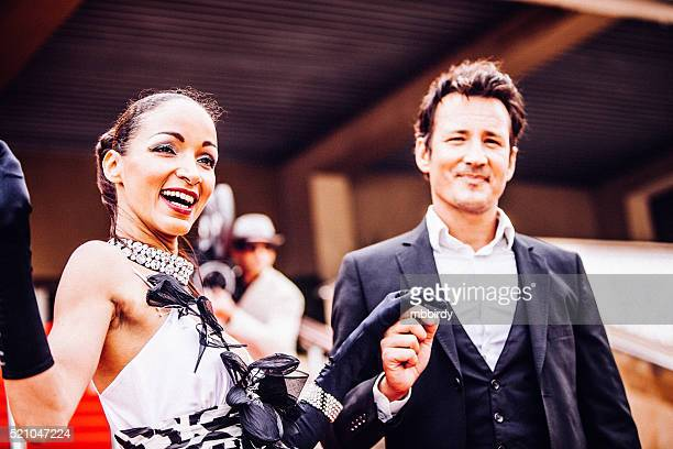 celebrity couple on red carpet in cannes - celebrities stock pictures, royalty-free photos & images