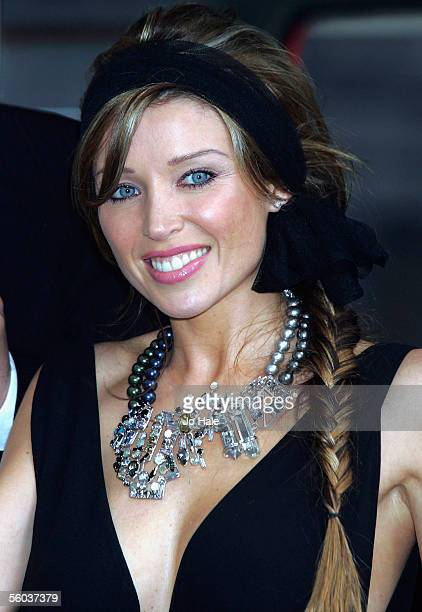 Celebrity Dannii Minogue attends the launch of the new Sky TV service available on Vodafone live! handsets, at Gloucester Road on October 31, 2005 in...