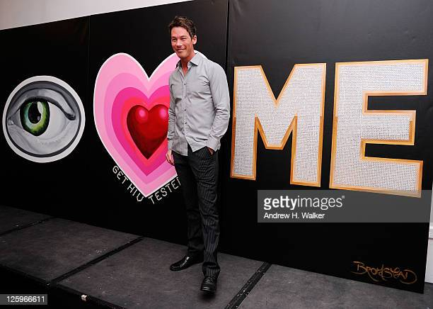 Celebrity designer David Bromstad unveils his HIV testing awareness mural at NYC's LGBT Community Center for the Know Yourself Get HIV Tested...