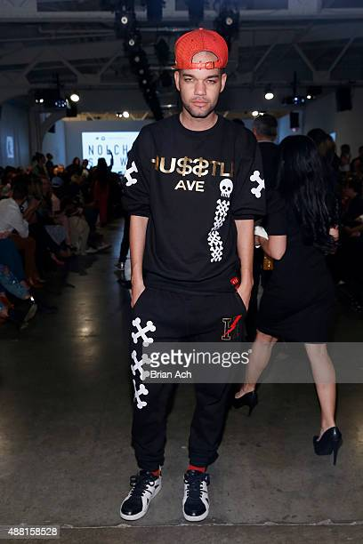 Celebrity designer Jason Christopher Peters poses at Nolcha Shows During New York Fashion Week Spring/Summer 2016 Collections NYFW at Pier 59 on...