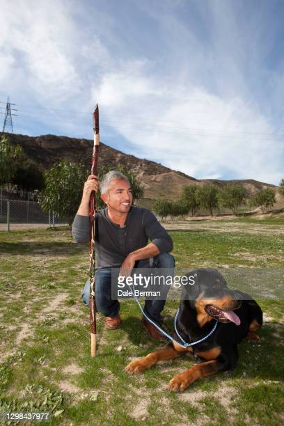 Celebrity Dog Trainer Cesar Millan poses for a portrait at his dog training facility on January 31, 2012 in Santa Clarita, California.