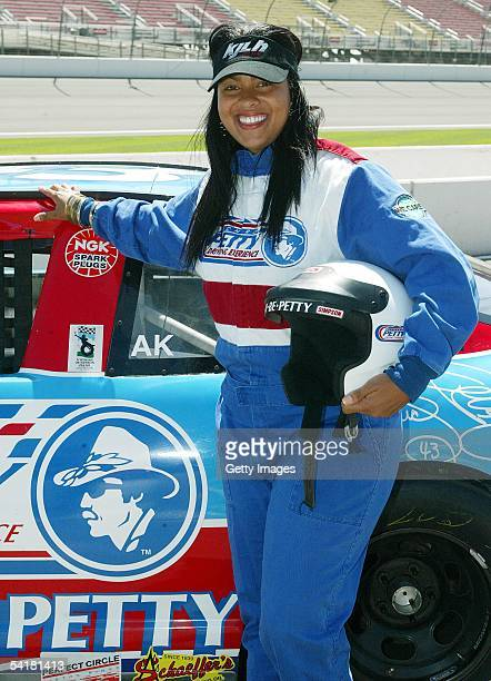 Celebrity driver Adai Lamar attends the Richard Petty Driving Experience at the California Speedway on September 1 2005 in Fontana California