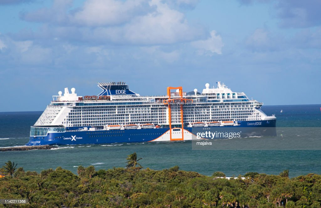 Celebrity Edge departing from Fort Lauderdale : Stock Photo
