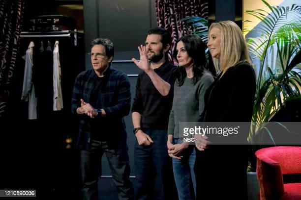 """Celebrity Escape Room"""" -- Pictured: Ben Stiller, Adam Scott, Courteney Cox, Lisa Kudrow --"""