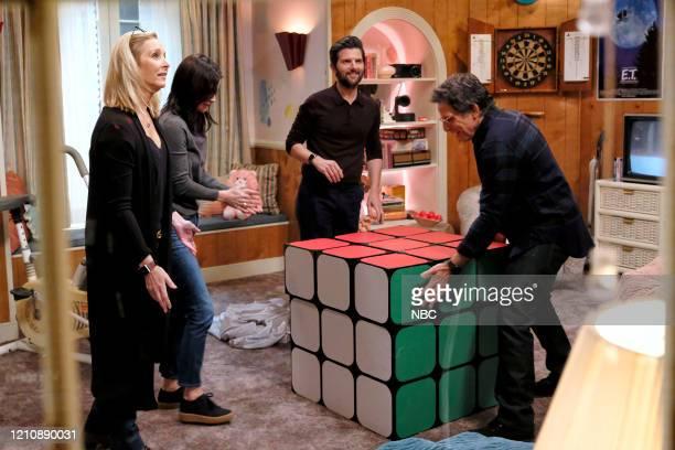 """Celebrity Escape Room"""" -- Pictured: Lisa Kudrow, Courteney Cox, Adam Scott, Ben Stiller --"""