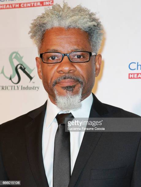 Celebrity fashion designer Thomas T J Walker attends the Santee High School Fashion Show at Los Angeles Trade Technical College on April 7 2017 in...