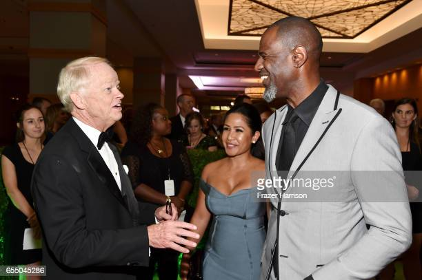 Celebrity Fight Night Founder and Chairman Jimmy Walker Leilani Mendoza and singer/songwriter Brian McKnight attend Muhammad Ali's Celebrity Fight...