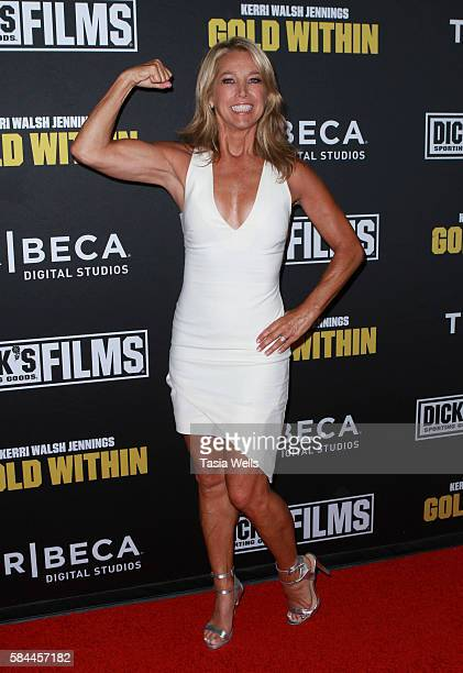 Celebrity fitness instructor Denise Austin attends the premiere of Kerri Walsh Jennings Gold Within at The Paley Center for Media on July 28 2016 in...