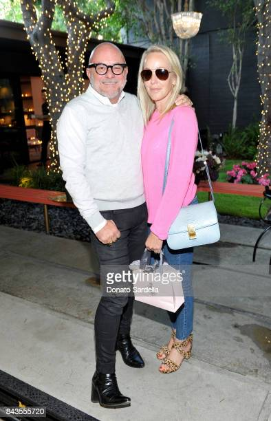Celebrity floral and fragrance designer Eric Buterbaugh and Julie Jaffe attend the private opening of Sascha von Bismarck debut photography...