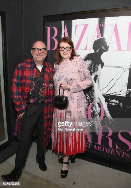 Celebrity floral designer Eric Buterbaugh and Harper's Bazaar EditorinChief Glenda Bailey attend Glenda Bailey's Book Launch Celebration at Eric...