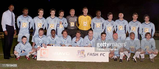 Celebrity Football Team John Fashanu John LeslieRalf LettleHarvey[so solid] Nick Pickard[Hollyoaks]Shane Creevy[D Side] Dan Guidan[DSide} Craig...