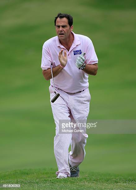 Celebrity golfer Andy Buckley applauds a shot during the third round of the BMW Charity ProAm Presented by SYNNEX Corporation held at the Thornblade...