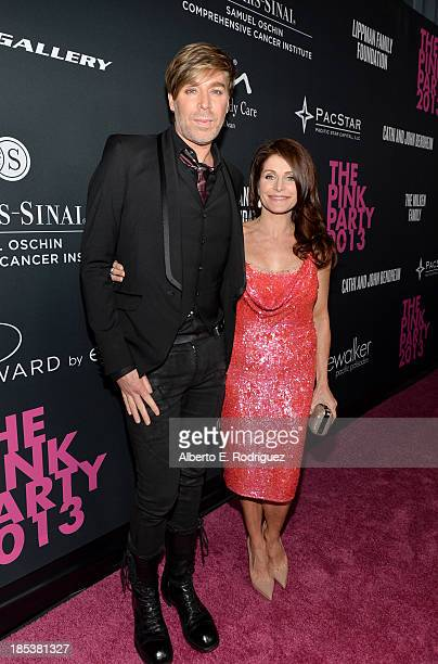 Celebrity Hair Stylist Chaz Dean and Joanne Ferra attend Elyse Walker Presents The Pink Party 2013 hosted by Anne Hathaway at Barker Hangar on...