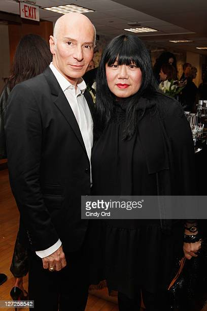 Celebrity hair stylist Garren and fashion designer Anna Sui attend Dr Fredric Brandt's SiriusXM launch event at SiriusXM Studio on September 26 2011...