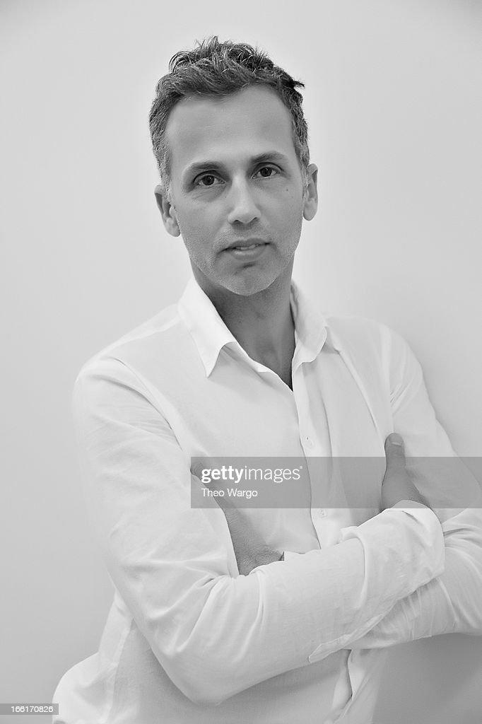 Celebrity hair stylist Mordechai Alvow attends a portrait session on April 9, 2013 in New York City.
