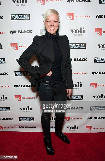Celebrity hair stylist Tabatha Coffey arrives at the premiere party for Bravo's Tabatha Takes Over at Mr Black on January 10 2012 in Hollywood...