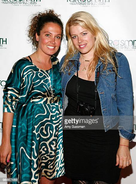 Celebrity Hair Stylist Tara Smith and photographer Amanda de Cadenet attend Tara Smith's New Hair Care Product Line Launch at Urban Zen on April 14...