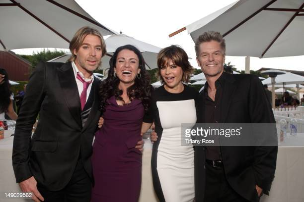 Celebrity hairstylist Chaz Dean actress Jenni Pulos actress Lisa Rinna and actor Harry Hamlin attend the HollyRod Foundation's 14th Annual Design...