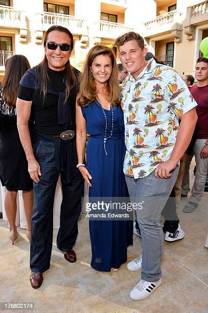 Celebrity hairstylist Nick Chavez broadcast journalist Maria Shriver and her son Christopher Schwarzenegger attend the Team Maria benefit for Best...