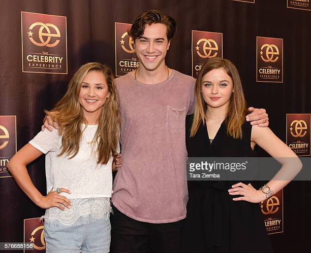 Celebrity host Electra Formosa actor Ryan McCartan and actress Joey King attend The Celebrity Experience QA Panel at Hilton Universal Hotel on July...