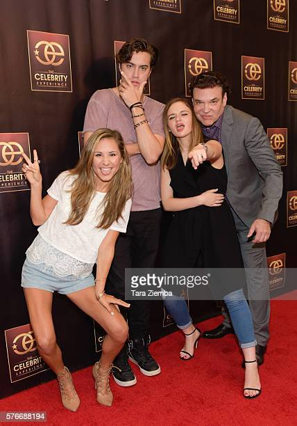 Celebrity host Electra Formosa actor Ryan McCartan and actress Joey King and founder/producer George Caceres attend The Celebrity Experience QA Panel...