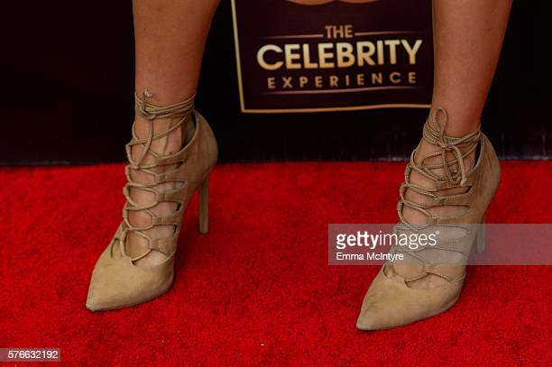Celebrity host Electra Formosa shoe detail arrives at 'The Celebrity Experience QA Panel' at Hilton Universal Hotel on July 16 2016 in Los Angeles...