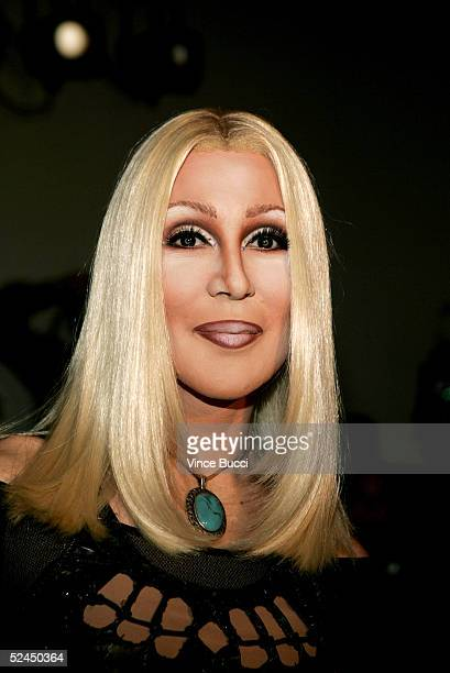 Celebrity impersonator attends the Grey Ant Fall 2005 show during MercedesBenz Fashion Week at Smashbox Studios March 18 2005 in Culver City...