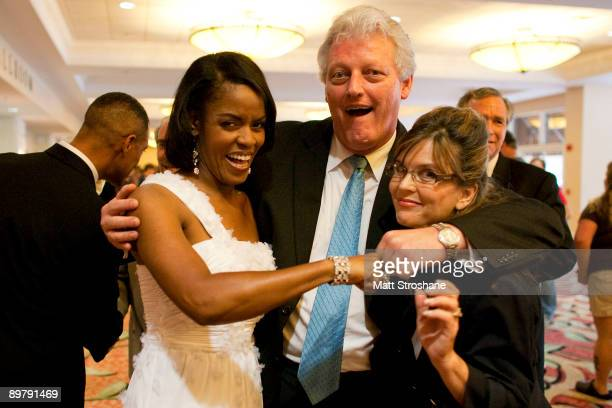 Celebrity impersonators Vernetta Jenkins as First Lady Michelle Obama Dale Leigh as former US President Bill Clinton and Patsy Gilbert as former...