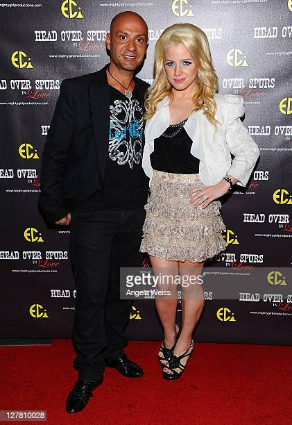 Celebrity Jeweler Igal Dahan and model Jaimie Hilfiger arrive at the world premiere of 'Head Over Spurs In Love' at Majestic Crest Theatre on March...