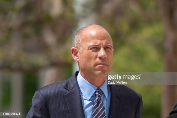 Celebrity lawyer Michael Avenatti arrives for his first hearing in Santa Ana federal court on bank and wire fraud charges on April 1 2019 in Santa...