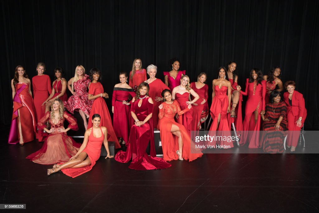 Celebrity models attend the American Heart Association's Go Red For Women Red Dress Collection 2018 presented by Macy's at Hammerstein Ballroom on February 8, 2018 in New York City.