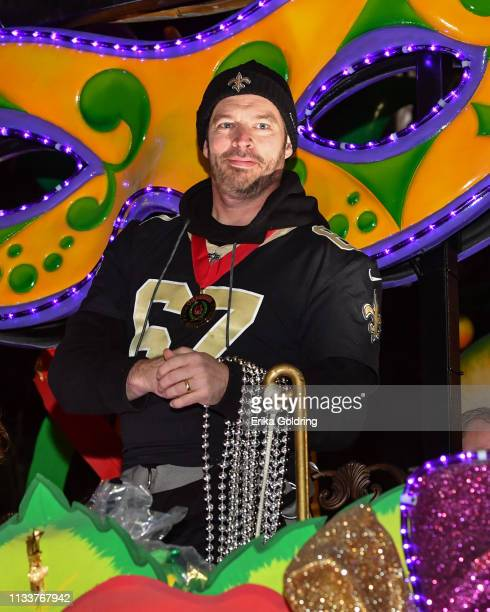 Celebrity monarchHarry Connick Jr. Rides in The 2019 Krewe of Orpheus parade on March 4, 2019 in New Orleans, Louisiana.