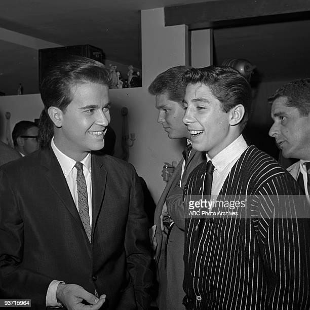 SHOW Celebrity Party 11/6/63 Dick Clark Johnny Crawford on the Walt Disney Television via Getty Images Television Network dance show American...