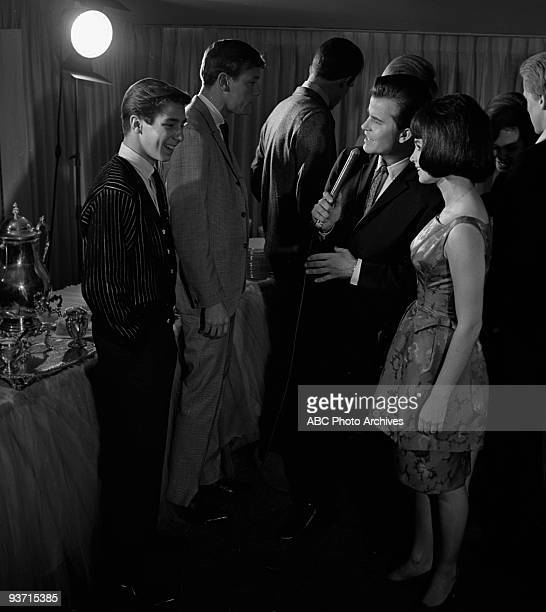 SHOW Celebrity Party 11/6/63 Johnny Crawford Bobby Pickett Dick Clark Donna Loren on the Walt Disney Television via Getty Images Television Network...