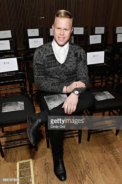 Celebrity photographer Andrew Werner attends the Josie Natori fashion show during MercedesBenz Fashion Week Fall 2015 at Dimenna Center for Classical...