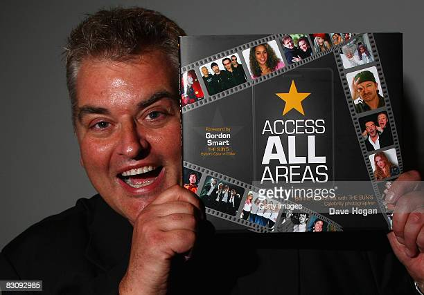 Celebrity Photographer Dave Hogan poses at his the launch of his book Access All Areas on October 2 2008 in London England Dave has been the Sun's...