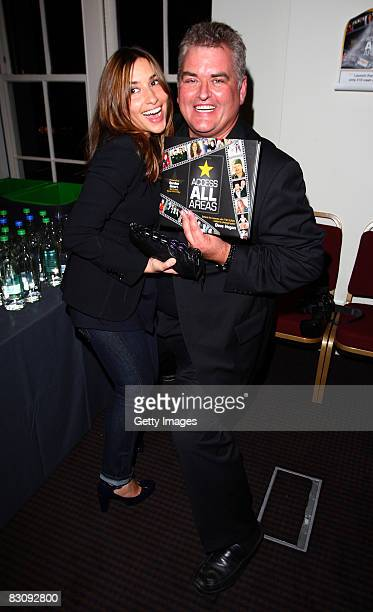 Celebrity Photographer Dave Hogan poses with Mel Blatt at the launch of his book Access All Areas on October 2 2008 in London England Dave has been...