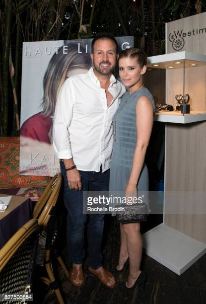 Celebrity photographer John Russo and actress Kate Mara attend the Haute Living Celebrates Kate Mara with Westime on August 7 2017 in Los Angeles...