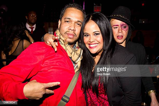 Celebrity photographer Johnny Nunez SWAP Management Founder CEO Anel Pla and Fashion Designer Indashio at the Indashio Fall 2012 fashion show after...