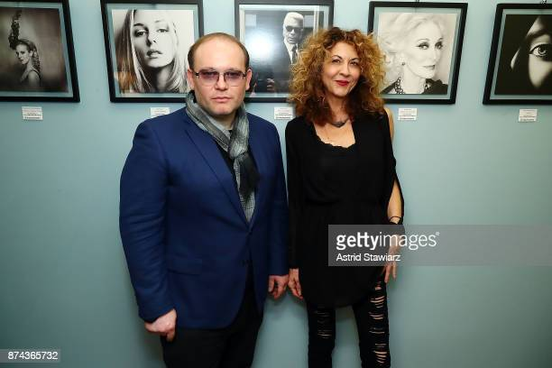 Celebrity photographer Vital Agibalow and Brigitte Segura attend 'VITAL PORTRAITS' solo photography exhibition opening at Konstantin Gallery on...