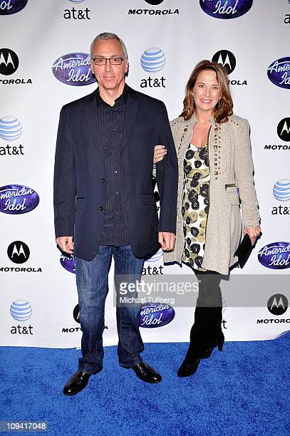 Celebrity physician Dr Drew Pinsky arrives with wife Susan Pinsky at Idol Prom The American Idol Season Ten Top 24 Debut event at the Roosevelt Hotel...