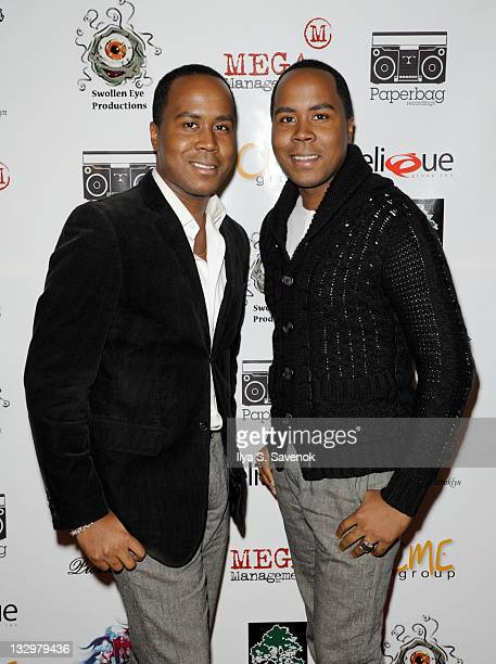 Celebrity Publicists Antoine Von Boozier and Andre Von Boozier attend the Inspired in New York event at Tian at the Riverbank on November 15 2011 in...